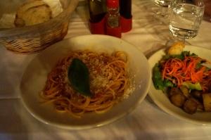 tomato & basil spaghetti